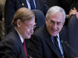 Robert Zoellick e Dominique Strauss