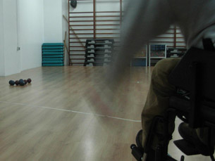 O objectivo do boccia é arremessar as bolas de cor para perto da bola branca Foto: Sofia Rodrigues