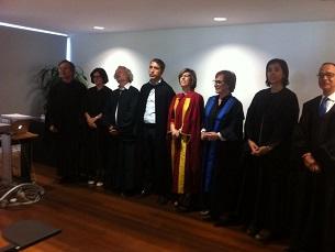 Vasco Ribeiro (ao centro) é o autor do estudo sobre o spin doctoring em Portugal Foto: DR