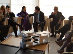 Ministra da Cultura e Presidente da Câmara de Matosinhos discutem projectos para a cidade Foto: Rosário Costa