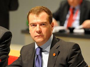 """Medvedev garantiu que a Rússia dará """"toda a ajuda"""" para pôr em prática o plano de Kofi Annan Foto: Downing Street"""