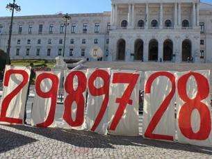 Os números foram apresentados num protesto em frente à Assembleia da República Foto: DR