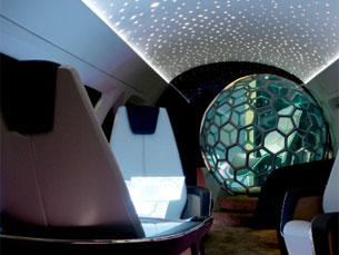 O projeto Life pretende implementar nas aeronaves maior acesso multimédia e um espaço tridimensional Foto: DR