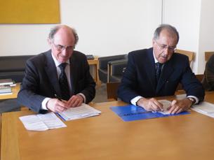 O protocolo foi assinado pelo Reitor da UP e pelo Presidente da Fundação Serralves Foto: Salomé Fonseca