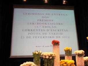 Prémios LER /Booktailors no encerramento de Correntes d'Escritas Foto: Sara Pereira