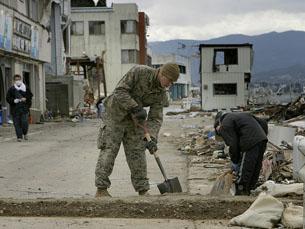 O Japão está a receber ajuda de mais de 130 países Foto: United States Marine Corps / Flickr