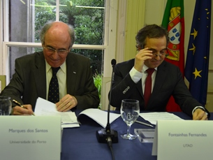 Os reitores das universidades envolvidas assinaram o memorando de entendimento no CCDR