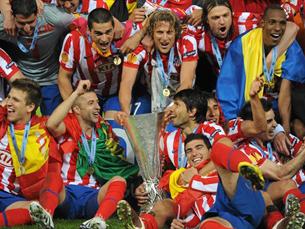 Atlético de Madrid de Simão venceu a Liga Europa Foto: UEFA