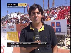O estágio na SPORT TV permitiu a Carlos Matos Rodrigues entrar no mercado de trabalho Foto: DR