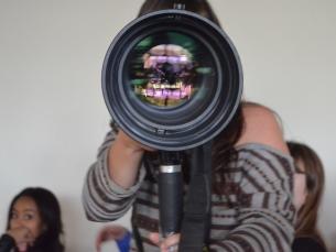 Os estudantes de Ciências da Comunicação da UP experimentaram o olhar de um fotojornalista Foto: Patrícia do Vale