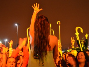 Mónica Ferraz desceu do palco pouco antes do fim do concerto Foto: Ana Magalhães