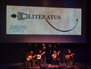 O Literatus conquistou a plateia com a canção de Coimbra Foto: JPN
