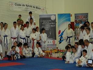 O evento teve a assinatura do Clube de Karaté da Maia, que costuma estar envolvido em ações de solidariedade Foto: Catarina de Vilhena