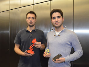 A equipa da Extrude venceu um concurso na Trienal de Arquitetura, em Lisboa, e teve direito a uma impressora 3D Foto: Ricardo M. Alves