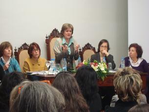 Elisa Ferreira nas comemorações do Dia Internacional da Mulher Foto: Melanie Antunes