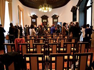No Salão Nobre da Câmara de Vila Nova de Gaia, 22 estudantes apresentaram propostas para a requalificação do Jardim do Morro Foto: Filipa Mesquita