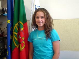 Michelle Brito é, aos 15 anos, uma esperança do ténis português Fonte: Federação Portuguesa de Ténis