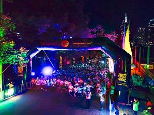 """Almada será a segunda cidade a receber a """"Glow Run"""", no dia 7 de junho Foto: DR"""