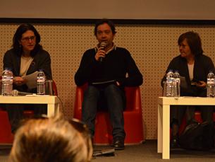 Sérgio Almeida, editor de Cultura no JN, foi o moderador do debate Foto: Fábio Silva