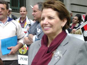"""Ilda Figueiredo encara a Marcha da CDU em Lisboa, como uma demonstração de """"confiança"""" Foto: Arquivo JPN"""