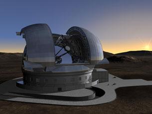 A construção do telescópio E