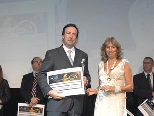 """José Ferreira Duarte, quando recebeu a distinção de """"Mérito Desportivo"""