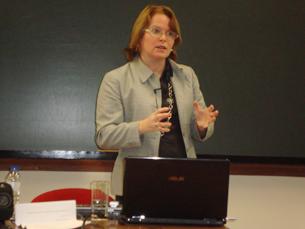Karen Sanders não se mostra pessimista e acredita que o jornalismo de referência não se perdeu Foto: Ana Mendes