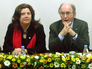Maria Daniel Almeida e o reitor da UP estiveram presentes na cerimónia de aniversário Foto: Patrícia Silva