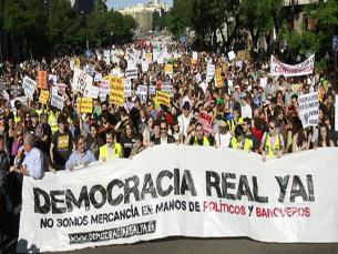 As medidas foram tomadas como resposta à crescente onda de manifestações em Espanha Foto: DR