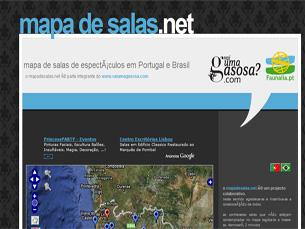 Aspecto da página principal do Mapa de Salas Foto: DR