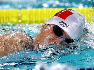 Adriano Niz de prata e com recorde nacional absoluto nos 200 metros costas Foto: Federação Portuguesa de Natação