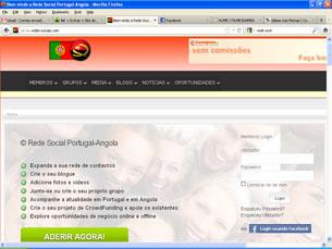 Rede social estreita laços entre Portugal e Angola Foto: DR