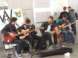 """Os """"W8n'C"""" foram os vencedores da segunda edição do concurso """"Música na Rua"""" Foto: DR"""