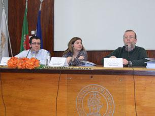 A sessão de abertura ficou a cargo de Filipe Magalhães, Luís Carlos Amaral e Amélia Polónia Foto: Ricardo M. Alves