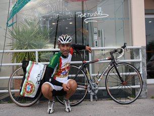 O atleta partiu na sua viagem até à Polónia no dia 25 de abril Foto: DR