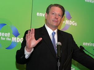Al Gore tem sido um dos rostos mais conhecidos da luta contra as alterações do clima Foto: DR