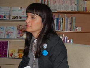 Ana Sofia Gomes, da Comunicarte Publishing, foi uma das responsáveis pela palestra Foto: Diana Ferreira