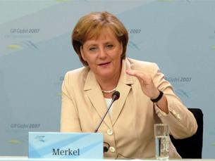 Angela Merkel fez balanço positivo da cimeira de Heiligendamm Foto: Marcello Casal Jr./ABr