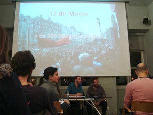O movimento quer que a proposta contra a precariedade seja discutida na Assembleia da República Foto: Marília Freitas