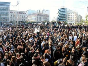 Os estudantes gregos dividem