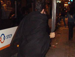 A novidade deste ano foi a presença de agentes da PSP para diminuir os incidentes Foto: Arquivo JPN