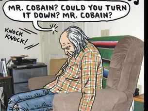 """Na banda desenhada, Kurt Cobain morria aos 84 anos Foto: """"The Village Voice"""""""