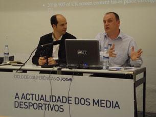Raymond Boyle fechou o ciclo de conferências do jornal O Jogo Foto: João Nápoles