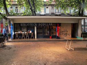 Reunião para decidir futuro da antiga biblioteca infantil teve início conturbado Foto: DR
