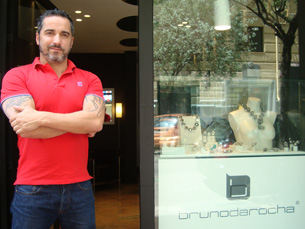 """A loja """"Bruno da Rocha"""", em Madrid, abriu em Novembro do ano passado Foto: Nuno de Noronha"""