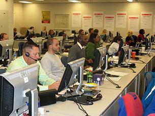 Os trabalhadores de call centers são maioritariamente jovens Foto: State Farm / Flickr