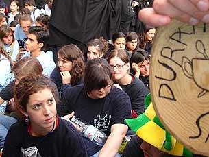 A Latada foi uma das muitas actividades da semana de recepção dos caloiros Foto: Carla Camarinha