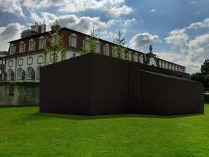 Estar dentro de uma câmara fotográfica é possível numa tenda nos jardins do palácio de Vila Flor Foto: DR
