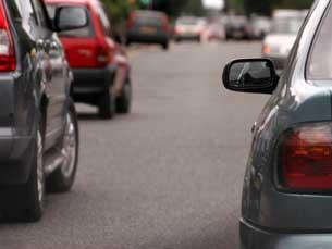 Fila de carros