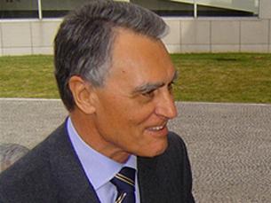 Cavaco Silva em audiência com António Barreto e Lobo Xavier Foto: Arquivo JPN